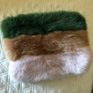 Brand new Zara faux fur clutch
